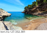 Купить «Summer Baia della Pergola beach, Puglia, Italy», фото № 27332381, снято 5 июня 2017 г. (c) Юрий Брыкайло / Фотобанк Лори