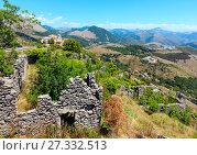 Купить «Ruins of the original settlement of Maratea. italy», фото № 27332513, снято 20 июня 2017 г. (c) Юрий Брыкайло / Фотобанк Лори