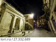 Купить «Night Stilo village, Calabria, Italy.», фото № 27332689, снято 10 июня 2017 г. (c) Юрий Брыкайло / Фотобанк Лори