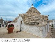 Купить «Trulli houses in Alberobello, Italy», фото № 27335549, снято 6 июня 2017 г. (c) Юрий Брыкайло / Фотобанк Лори