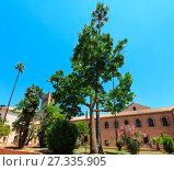 Купить «Monreale Cathedral Cloister, Palermo, Sicily, Italy», фото № 27335905, снято 15 июня 2017 г. (c) Юрий Брыкайло / Фотобанк Лори