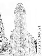 Купить «Maiden's Tower. Fortress of the Old Sity Baku. Historical core of Azerbaijan Baku.», иллюстрация № 27340321 (c) Евгений Ткачёв / Фотобанк Лори