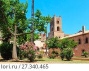 Купить «Monreale Cathedral Cloister, Palermo, Sicily, Italy», фото № 27340465, снято 15 июня 2017 г. (c) Юрий Брыкайло / Фотобанк Лори