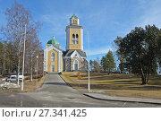Купить «Церковь Керимяки, Финляндия», фото № 27341425, снято 22 марта 2014 г. (c) Сапрыгин Сергей / Фотобанк Лори