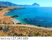 Купить «Bue Marino Beach, Macari, Sicily, Italy», фото № 27341689, снято 16 июня 2017 г. (c) Юрий Брыкайло / Фотобанк Лори