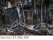 Купить «Снос незаконной постройки. Москва», фото № 27342169, снято 9 февраля 2016 г. (c) Алёшина Оксана / Фотобанк Лори