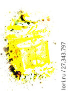 Купить «Splatter color background. Illustration background», фото № 27343797, снято 26 декабря 2015 г. (c) Евгений Ткачёв / Фотобанк Лори