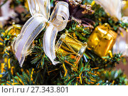 Toys on the Christmas tree. Стоковое фото, фотограф Евгений Ткачёв / Фотобанк Лори