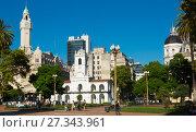 Купить «Plaza de Mayo in Buenos Aires», фото № 27343961, снято 21 февраля 2017 г. (c) Яков Филимонов / Фотобанк Лори