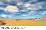 Купить «Alien Planet. Mountain. Animation. 4K», видеоролик № 27350797, снято 5 января 2018 г. (c) Parmenov Pavel / Фотобанк Лори