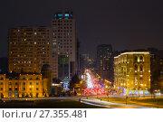 Купить «Ночной пейзаж современного Баку», фото № 27355481, снято 5 января 2018 г. (c) Виктор Карасев / Фотобанк Лори