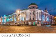 Купить «Здание Совета ЕС в Москве на Кадашевской набережной», эксклюзивное фото № 27355673, снято 4 января 2018 г. (c) Виктор Тараканов / Фотобанк Лори