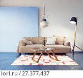 modern room interior. Стоковое фото, фотограф Виктор Застольский / Фотобанк Лори
