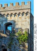 Купить «Tower in Montepulciano, Tuscany, Italy», фото № 27382561, снято 23 июня 2017 г. (c) Юрий Брыкайло / Фотобанк Лори
