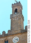 Купить «Volterra Palazzo dei Priori, Tuscany, Italy», фото № 27382721, снято 24 июня 2017 г. (c) Юрий Брыкайло / Фотобанк Лори