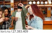 Купить «Friends having tequila shot at counter in bar 4k», видеоролик № 27383409, снято 11 июля 2020 г. (c) Wavebreak Media / Фотобанк Лори