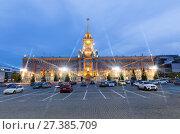 Купить «Ночной вид на здание городской администрации в Екатеринбурге на площади 1905 года», фото № 27385709, снято 20 мая 2014 г. (c) Евгений Ткачёв / Фотобанк Лори