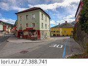 Купить «Уулица в историческом центре города Шпитталь-ан-дер-Драу. Каринтия, Австрия.», фото № 27388741, снято 8 октября 2017 г. (c) Bala-Kate / Фотобанк Лори