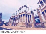 Купить «Antique Roman Theatre. Merida, Spain», фото № 27391477, снято 19 ноября 2014 г. (c) Яков Филимонов / Фотобанк Лори