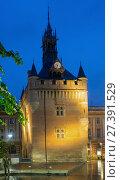 Купить «Night view of Donjon du Capitole, Toulouse», фото № 27391529, снято 11 мая 2017 г. (c) Яков Филимонов / Фотобанк Лори
