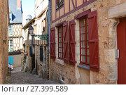 Narrow streets with medieval half-timbered houses (2017 год). Стоковое фото, фотограф Ирина Аринина / Фотобанк Лори