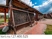 Купить «Mini-graduation tower in Fojutowo, Kuyavian-Pomeranian voivodeship. Poland», фото № 27400525, снято 21 июля 2019 г. (c) age Fotostock / Фотобанк Лори