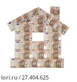 Купить «House of 50 Euro bank notes (sample 2002)», фото № 27404625, снято 17 января 2018 г. (c) Некрасов Андрей / Фотобанк Лори