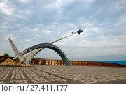 Купить «Мемориал «Защитникам неба Отечества». Город Тула», фото № 27411177, снято 1 сентября 2017 г. (c) Pukhov K / Фотобанк Лори