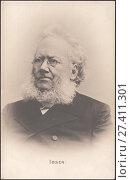 Купить «Генрик Юхан Ибсен (Henrik Johan Ibsen) - норвежский драматург,основатель европейской «новой драмы», поэт и публицист.Старинная почтовая карточка», иллюстрация № 27411301 (c) александр афанасьев / Фотобанк Лори
