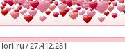 Купить «Valentines day design with hearts», фото № 27412281, снято 19 октября 2018 г. (c) Wavebreak Media / Фотобанк Лори