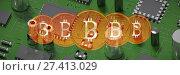 Купить «Composite image of bitcoin», фото № 27413029, снято 16 января 2019 г. (c) Wavebreak Media / Фотобанк Лори