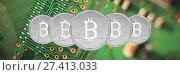 Купить «Composite image of bitcoin», фото № 27413033, снято 20 марта 2019 г. (c) Wavebreak Media / Фотобанк Лори