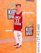 Купить «Nickelodeon's Kids's Choice Sports 2016 held at UCLA's Pauley Pavilion Featuring: Cameron Dallas Where: Los Angeles, California, United States When: 14 Jul 2016 Credit: Adriana M. Barraza/WENN.com», фото № 27415669, снято 14 июля 2016 г. (c) age Fotostock / Фотобанк Лори