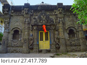 Купить «Trishund Mayureshshwar Ganesh Temple at Somawar Peth Pune Maharashtra India.», фото № 27417789, снято 28 октября 2017 г. (c) age Fotostock / Фотобанк Лори