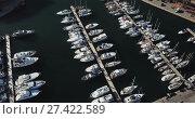 Купить «Many yachts lying at Port Forum. Barcelona, Spain», видеоролик № 27422589, снято 16 января 2018 г. (c) Яков Филимонов / Фотобанк Лори
