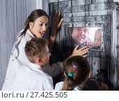 Купить «Family is saving each other from being locked up», фото № 27425505, снято 3 августа 2017 г. (c) Яков Филимонов / Фотобанк Лори