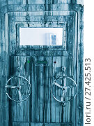 Купить «Image of locked grey door of lab», фото № 27425513, снято 3 августа 2017 г. (c) Яков Филимонов / Фотобанк Лори
