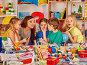 Купить «Children painting and drawing together. Craft lesson in primary school.», фото № 27426489, снято 25 марта 2017 г. (c) Gennadiy Poznyakov / Фотобанк Лори