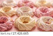 Colourful cookies on pink backgroung. Стоковое фото, фотограф Anton Chechotkin / Фотобанк Лори