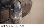 Купить «Manufacturing of metal parts on the lathe machine at the factory, lots of metal shavings, industrial concept, profile view», фото № 27427789, снято 6 июля 2020 г. (c) Константин Шишкин / Фотобанк Лори