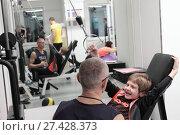 Купить «Инструктор занимается с трудным ребёнком в Балашихинском центре доктора Бубновского», эксклюзивное фото № 27428373, снято 15 января 2018 г. (c) Дмитрий Неумоин / Фотобанк Лори