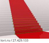 Купить «Красная ковровая дорожка», иллюстрация № 27429133 (c) WalDeMarus / Фотобанк Лори