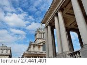 Купить «Greenwich Naval College with pillars in front», фото № 27441401, снято 18 января 2019 г. (c) easy Fotostock / Фотобанк Лори