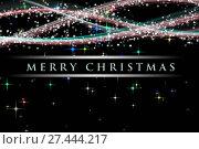 Купить «Fantastic Christmas wave design with snowflakes and glowing stars», фото № 27444217, снято 26 апреля 2018 г. (c) easy Fotostock / Фотобанк Лори