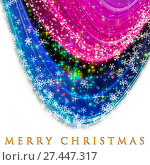 Купить «Fantastic Christmas wave design with snowflakes and glowing stars», фото № 27447317, снято 26 апреля 2018 г. (c) easy Fotostock / Фотобанк Лори
