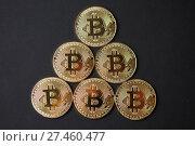 Купить «Bitcoin gold coins», фото № 27460477, снято 15 января 2018 г. (c) Иван Карпов / Фотобанк Лори