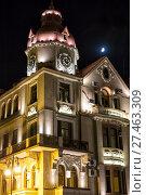 Купить «Night illumination of a building in the Gothic style. Баку. Азербайджан», фото № 27463309, снято 22 сентября 2017 г. (c) Евгений Ткачёв / Фотобанк Лори