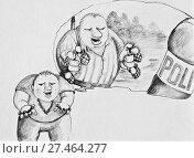 Купить «Крутой внук рассказывает о деде партизане», иллюстрация № 27464277 (c) Олег Хархан / Фотобанк Лори