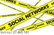 Купить «Социальные сети. Опасность. Желтые оградительные ленты», видеоролик № 27465181, снято 16 января 2018 г. (c) WalDeMarus / Фотобанк Лори