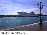 Купить «Minoan Lines Passenger Ferry, Venice», фото № 27486277, снято 25 июня 2019 г. (c) age Fotostock / Фотобанк Лори